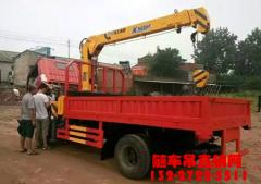 杨老板说:买了东风3.2吨蓝牌随车吊,以后赚钱就靠他了