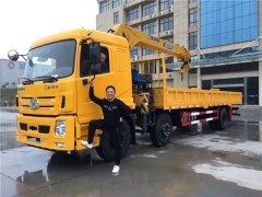安徽六安焦总全款订购三环10吨徐工随车吊