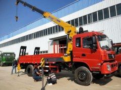 江西南昌乔总订购拉挖机的东风徐工8吨随车吊