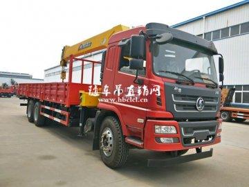 陕汽轩德X6后八轮随车吊,程力12吨吊机,货箱8.5米