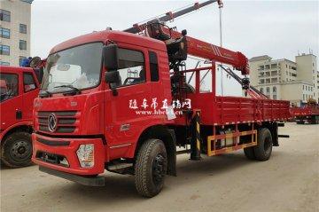 东风D3单桥玉柴180马力货箱5.8米三一8吨随车吊