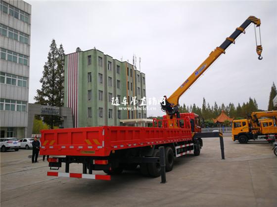 东风特商后八轮徐工10吨随车吊展示D