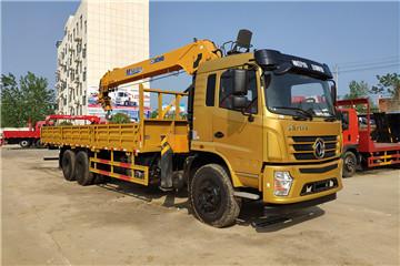 新莆京后八轮270马力徐工12吨双联泵随车吊