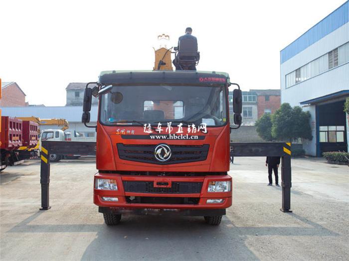 东风特商短轴距后八轮12吨徐工随车吊展示B