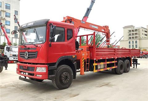 新莆京T5短轴距后八轮12吨石煤随车自备吊