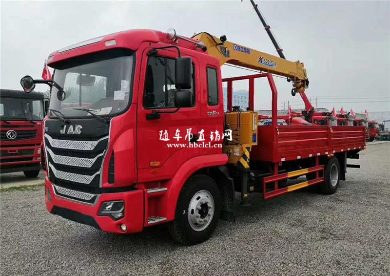 江淮K5潍柴160马力6.3吨徐工SQS157-4随车吊