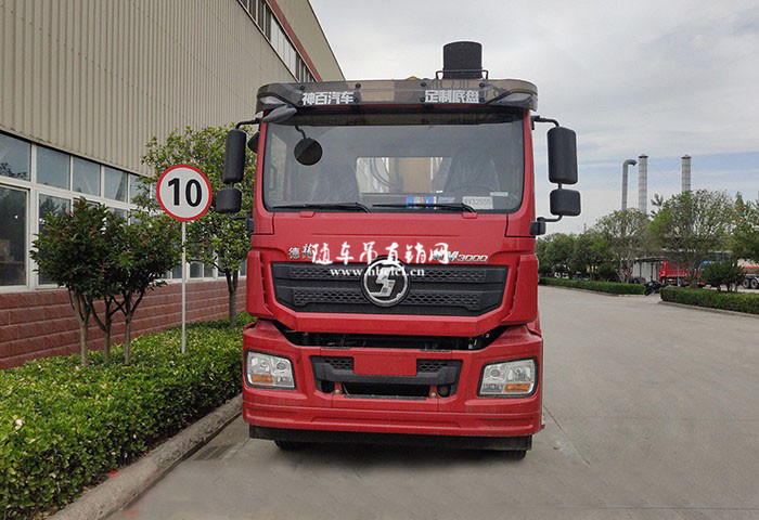 陕汽德龙前四后八徐工12吨SQS300-4随车吊展示B