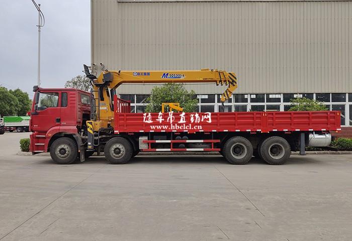 陕汽德龙前四后八徐工12吨SQS300-4随车吊展示C
