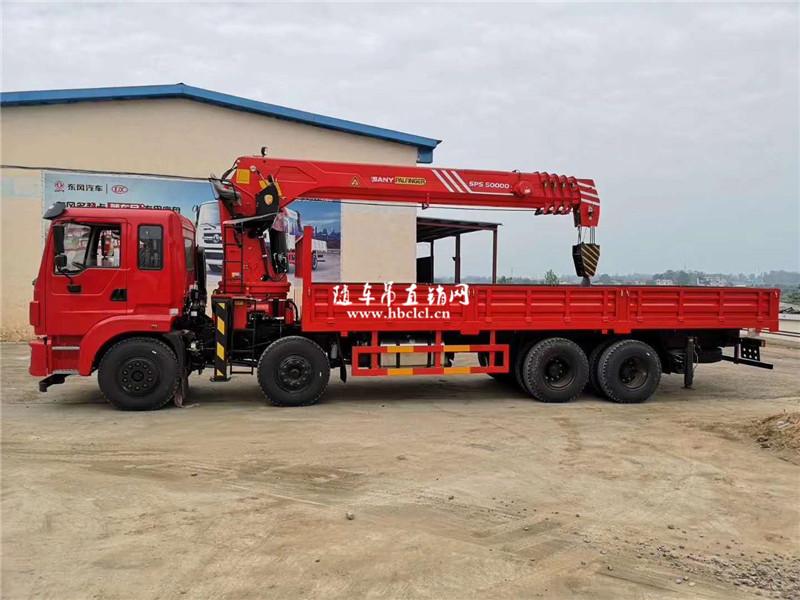 东风锦程前四后八潍柴300马力14吨三一随车吊展示C