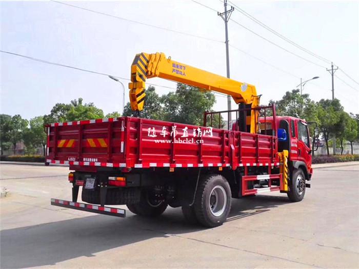 大运4米8货箱140马力程力6.3吨随车吊展示D