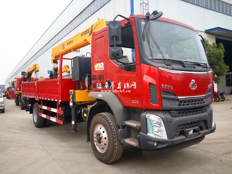 柳汽乘龙200马力5米8货箱8吨遥控随车吊展示B