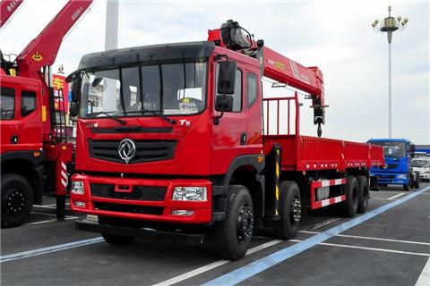 新莆京T5前四后八8米5货箱三一18吨随车吊