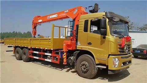 【图】东风后八轮 270马力 8米3货箱 石煤14吨五节臂随车吊