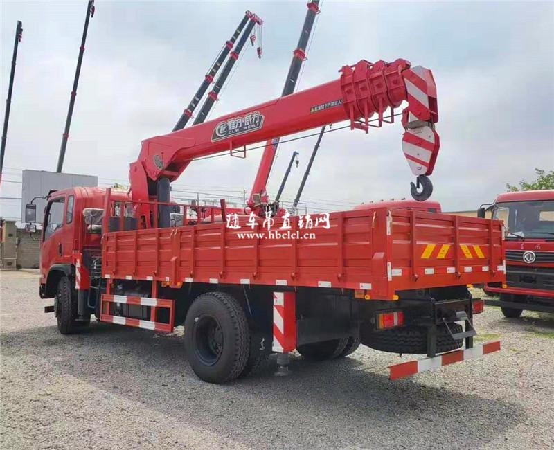 东风5米1货箱160马力程力威力8吨随车吊展示D