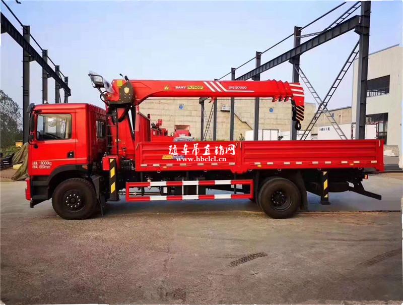 东风华神T5单桥5米7货箱三一8吨随车吊展示B