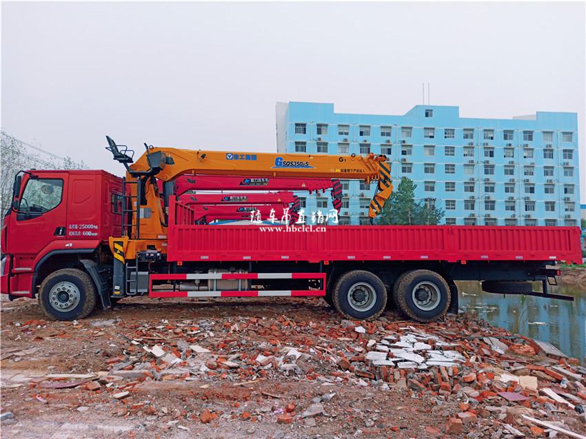 东风柳汽乘龙后八轮徐工G型14吨随车吊图片展示C
