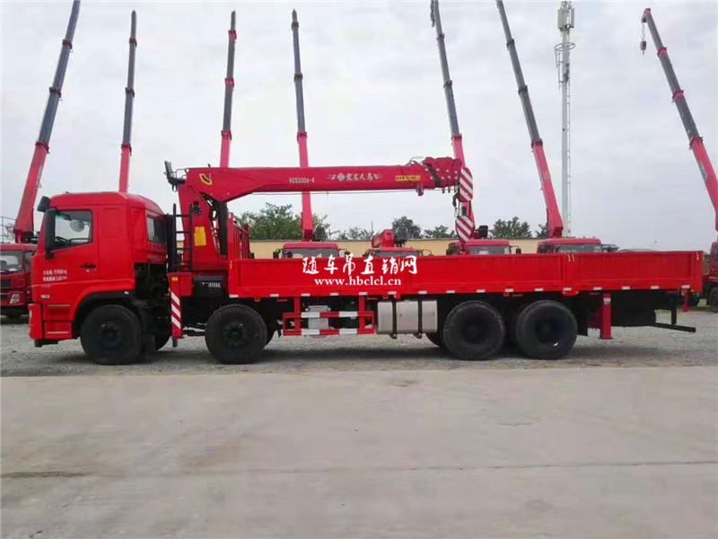 东风前四后八 290马力 12吨 宏昌天马 8米3随车吊图片展示D