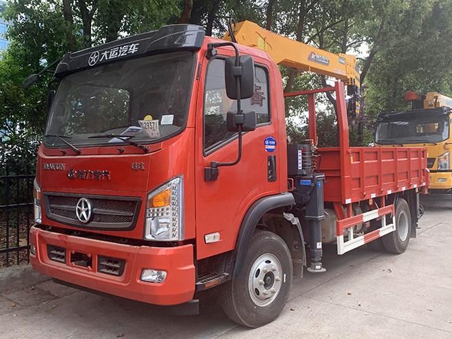 大运4米8货箱程力专汽牌5吨随车