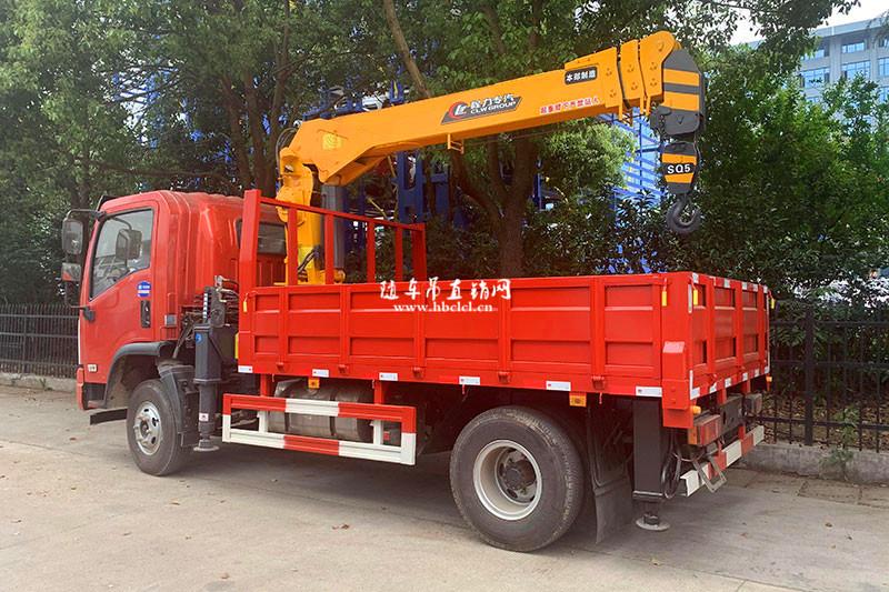 大运4米8货箱程力专汽牌5吨随车吊展示C