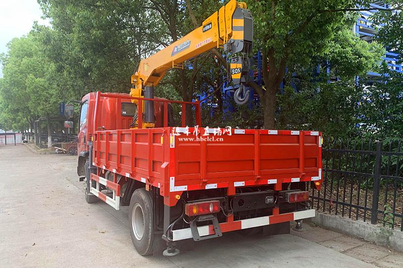 大运4米8货箱程力专汽牌5吨随车吊展示D