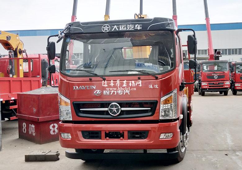 大运3900轴距4米3货箱程力威龙5吨随车吊展示B