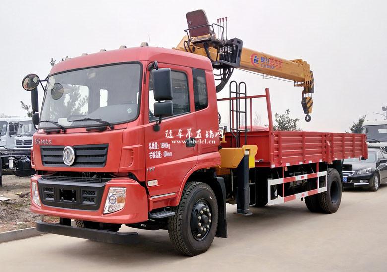 东风D913单桥5米8货箱程力威龙8吨随车吊展示C