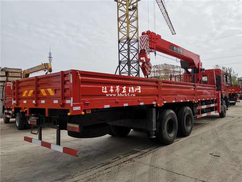 东风华神T5后八轮程力威龙12吨随车吊展示C