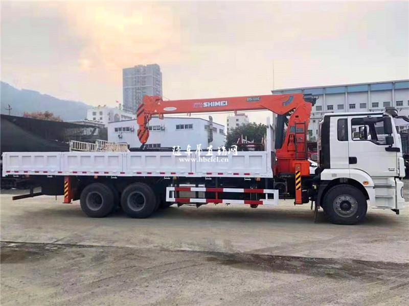 陕汽德龙新M3000后八轮石煤12吨随车吊展示C
