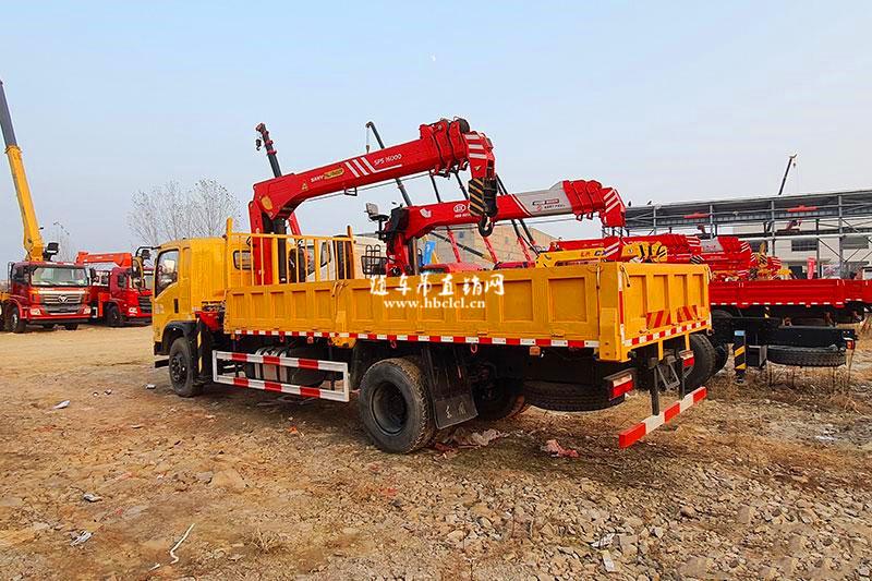 东风特商160动力5米1车厢三一7吨随车吊展示D