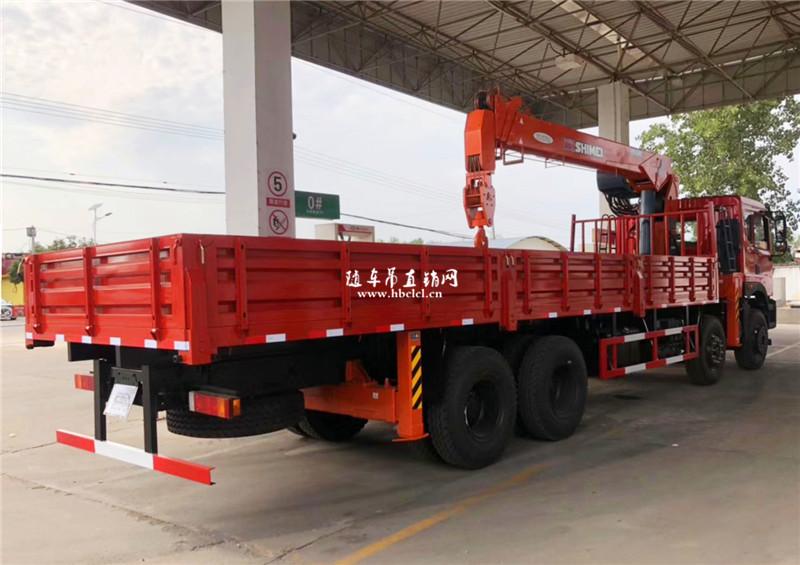 东风T5前四后八石煤12吨五节臂随车吊展示C