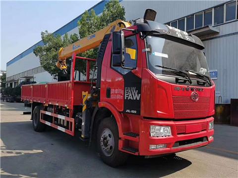 解放J6L大柴220马力徐工G型8吨随车吊