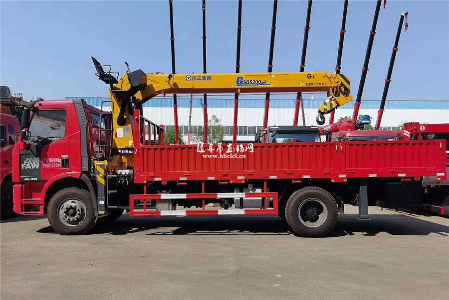 解放J6L大柴220马力徐工G型8吨随车吊图片展示B
