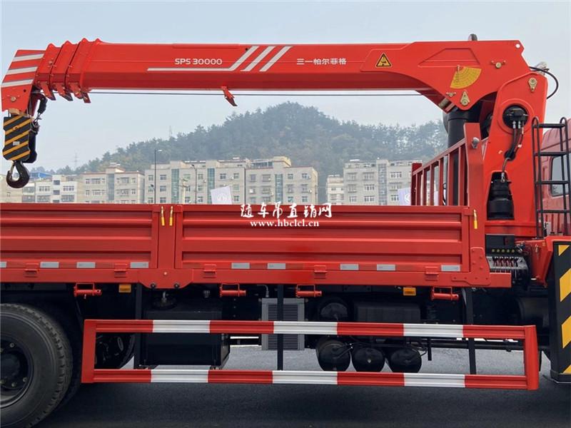 东风华神F5后双桥12吨三一随车吊展示C