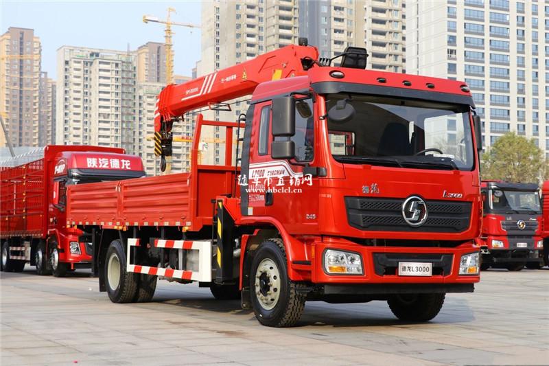 陕汽德龙L3000 国六245马力 三一8吨随车吊展示B