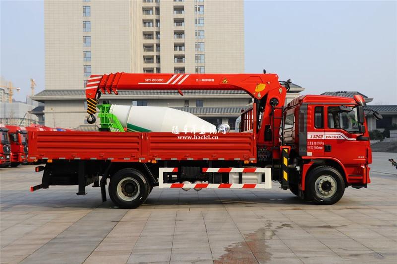 陕汽德龙L3000 国六245马力 三一8吨随车吊展示C