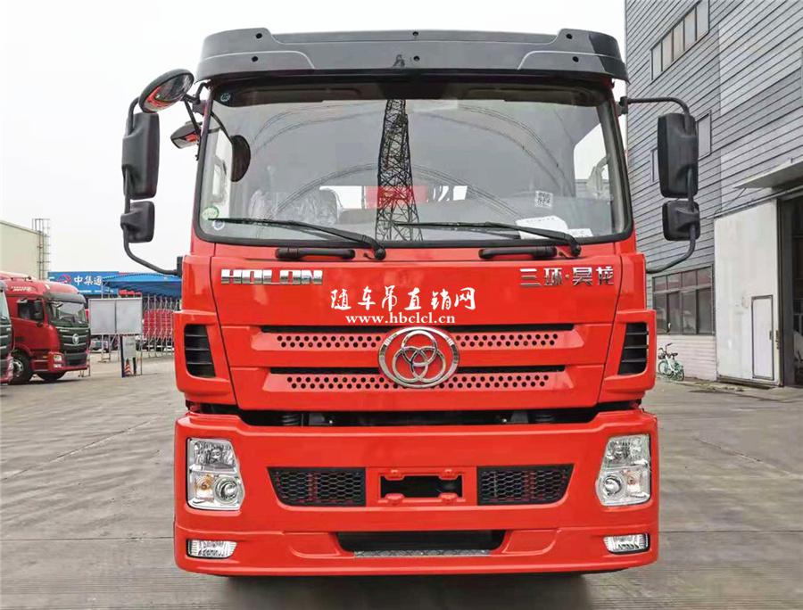 三环昊龙后八轮短轴距三一12吨5节臂随车吊图片图片展示B