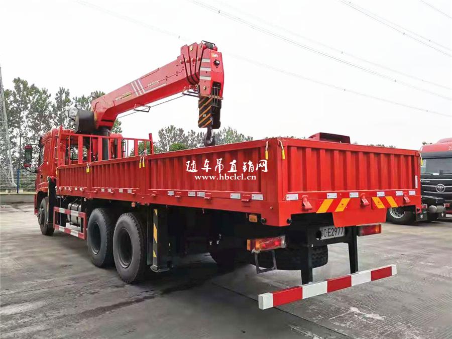 三环昊龙后八轮短轴距三一12吨5节臂随车吊图片图片展示D