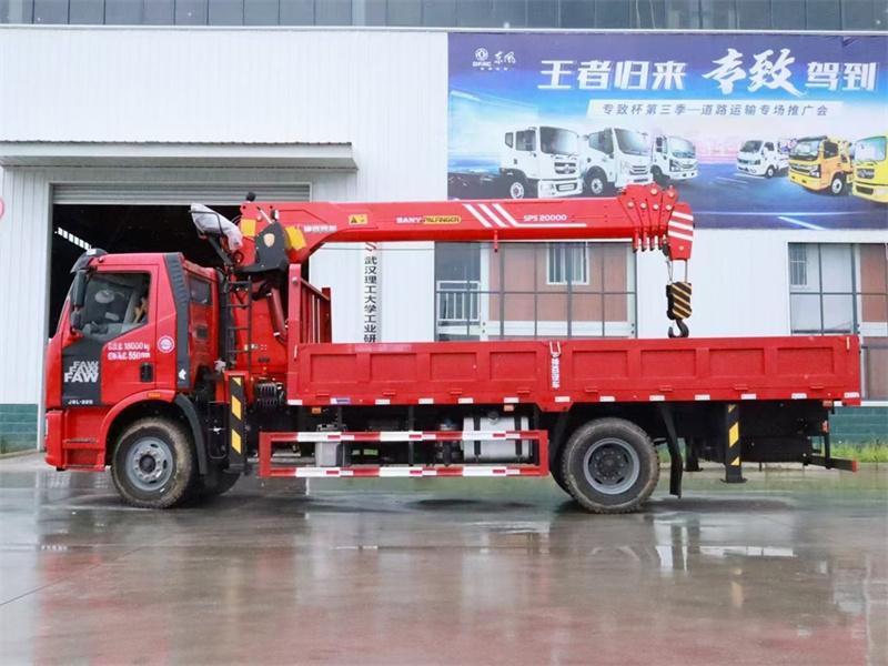 解放J6L 220马力 6米1 三一8吨随车吊展示D