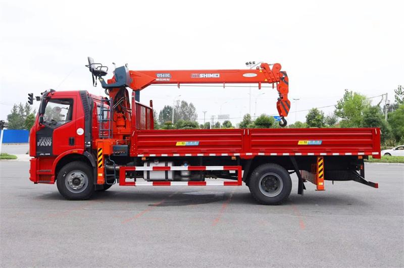 解放J6L 国六220马力 6米1 石煤8吨随车吊展示C