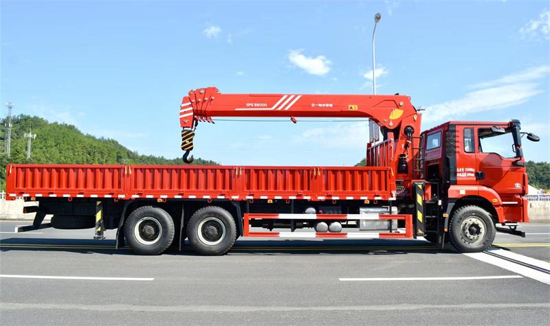 陕汽德龙 后八轮 国六300马力 三一14吨随车吊展示C