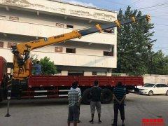 因为专业,所以专注,广州徐总自提新莆京12吨随车吊