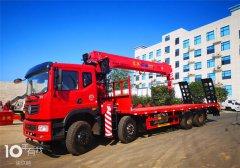 可以拉大挖机的新莆京T5前四后八14吨随车吊,好看又好用