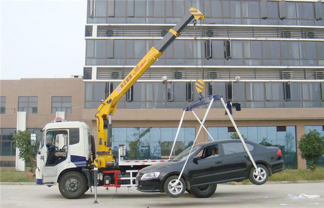 东风天锦清障救援8吨随车吊整车外观图片