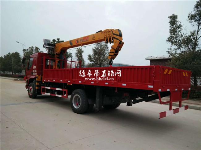 柳汽乘龙单桥程力8吨随车吊外观图片