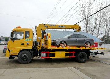 多功能随车吊道路清障救援拖车多少钱一辆?