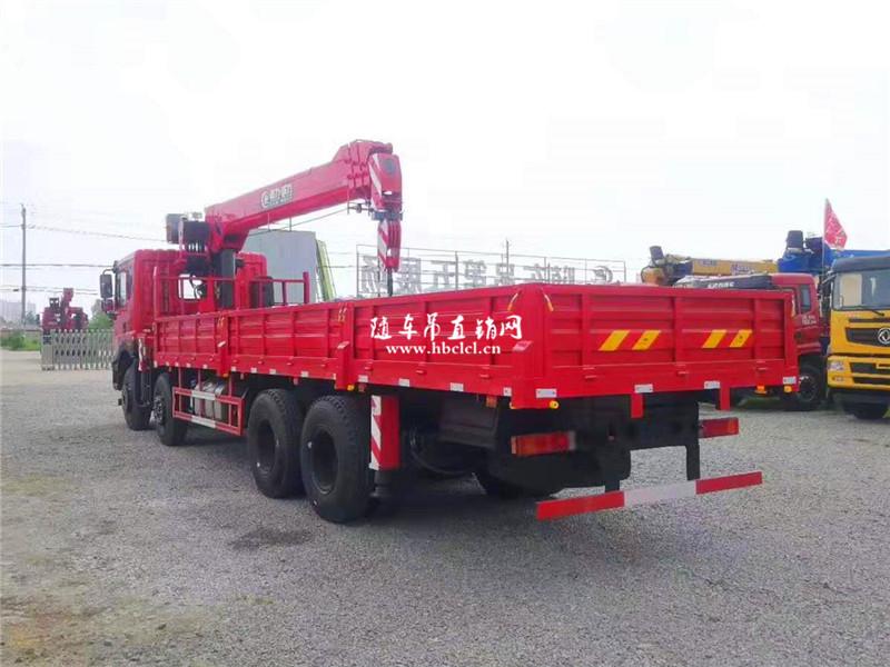 东风T5前四后八8米5程力12吨U型臂随车吊
