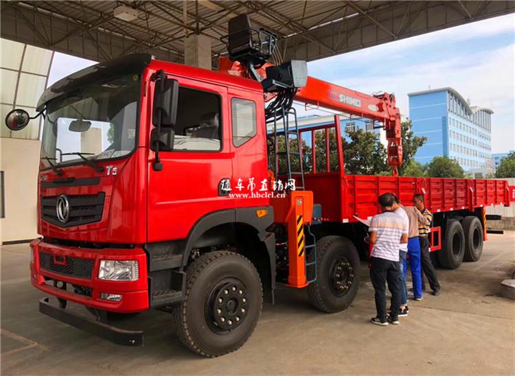 东风T5前四后八石煤12吨五节臂随车吊