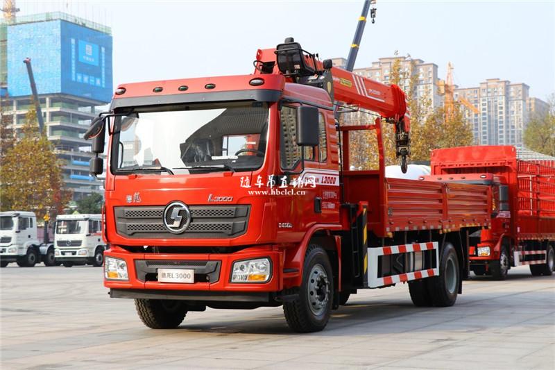 陕汽德龙L3000三一8吨随车吊(国六)